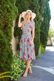 Poised For Picnics Dress- Pink - - Slim Dress