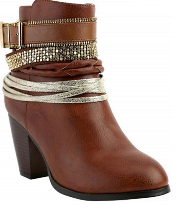 Rhinestone Booties - - Shoes