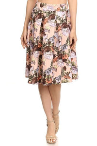 Tara In Blush - - Slim Skirt