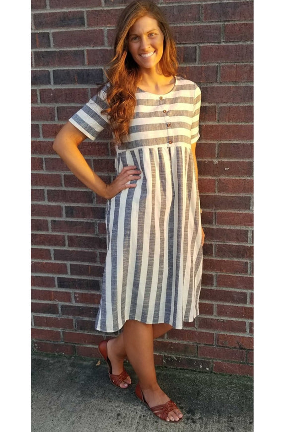 Freida Striped Midi