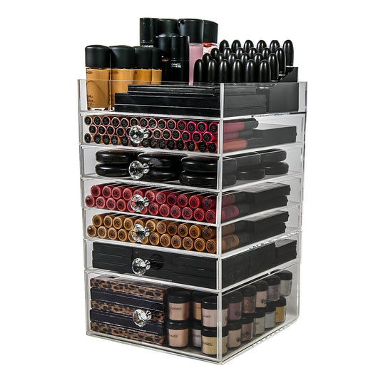 N2 Cube Acrylic Makeup Organizer Box (6 drawers) - USA - N2 Makeup Co - Acrylic Makeup Organizers