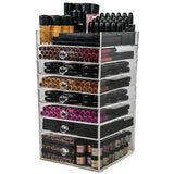 N2 Cube Acrylic Makeup Organizer Box (7 drawer) - USA - N2 Makeup Co - Acrylic Makeup Organizers