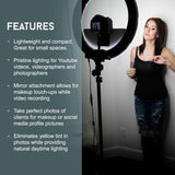 "18"" LED Video Ring Light Kit by Photo Doctor - USA - N2 Makeup Co - Acrylic Makeup Organizers"