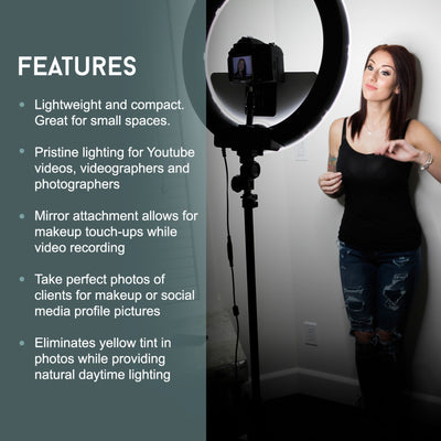 LED Video Ring Light Kit - N2 Makeup Co - Acrylic Makeup Organizers