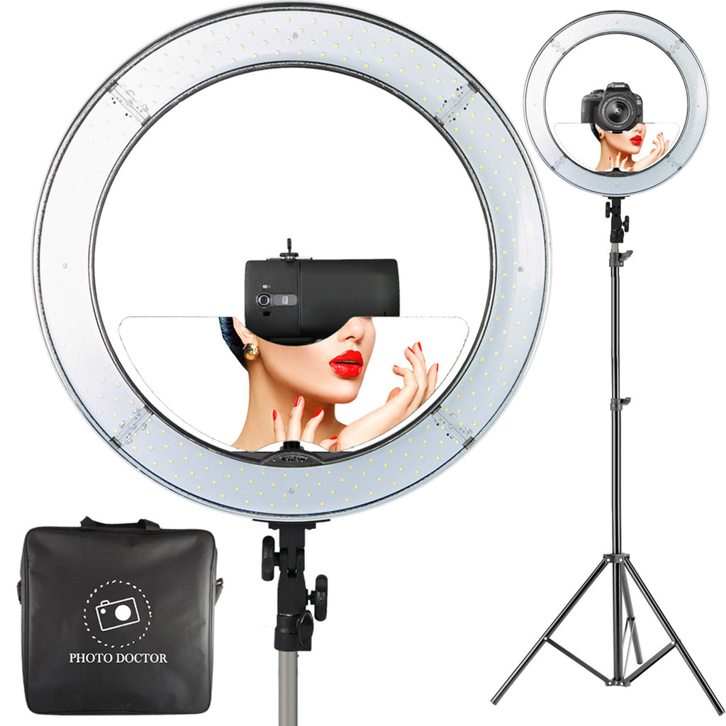 """Makeup Ring And Lights: 18"""" LED Video Ring Light Kit By Photo Doctor"""