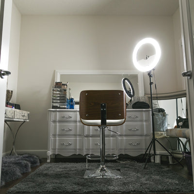 "18"" LED Video Ring Light Kit by Photo Doctor - N2 Makeup Co - Acrylic Makeup Organizers"
