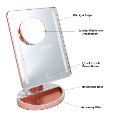 LED Makeup Vanity Mirror - N2 Makeup Co - Acrylic Makeup Organizers