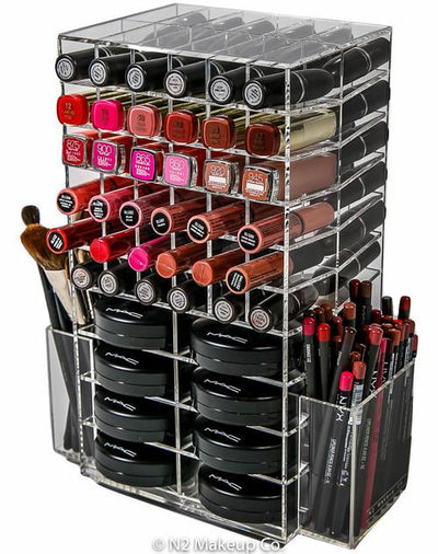 N2 Cosmo Makeup Organizer (Clear) - N2 Makeup Co - Acrylic Makeup Organizers