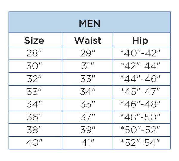 Boardshort Size Chart – Body Glove