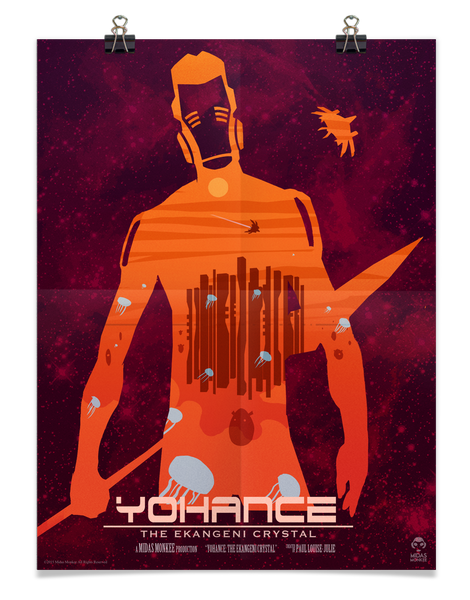Yohance Silhouette Poster