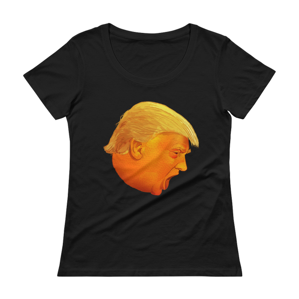 Orange Drumpf Head Ladies' T-Shirt