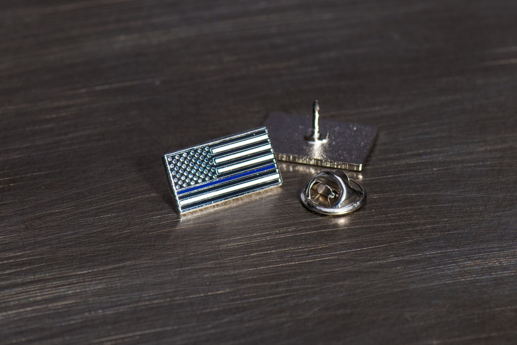 Relentless Labz: Thin Blue Line Flag Pin