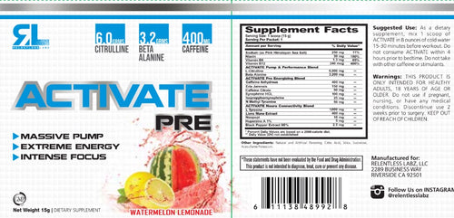 Activate Sample Packs. Packs of 3 (3 Servings)