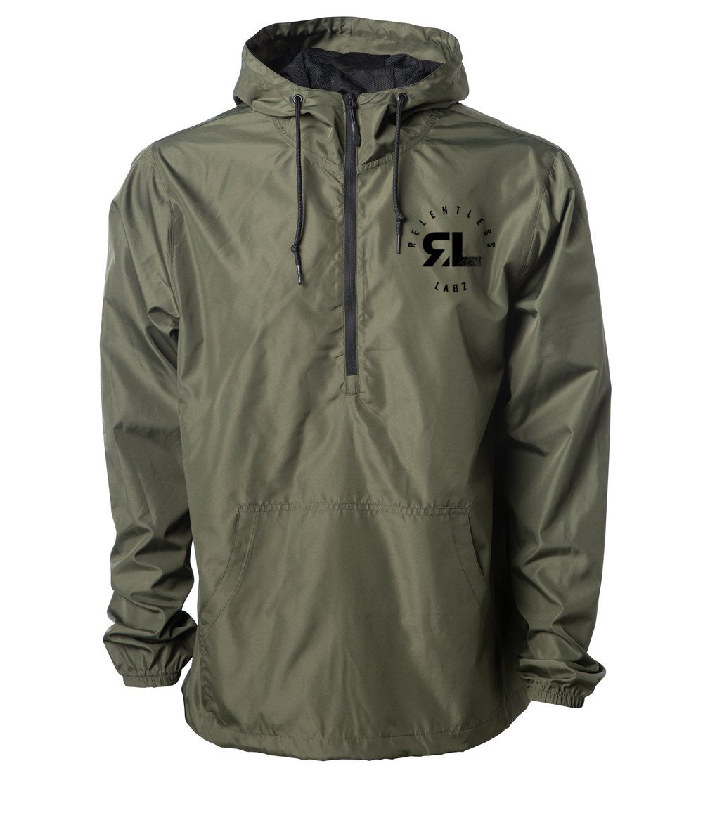 Relentless Labz: Lightweight Pullover Windbreaker Jacket