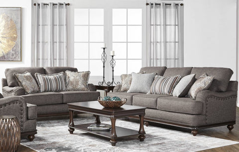 Hughes 17200 Sofa & Loveseat:Phineas Driftwood
