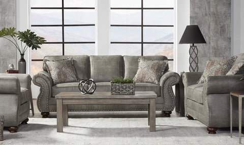 Hughes 17450 Sofa & Loveseat Goliath Mica