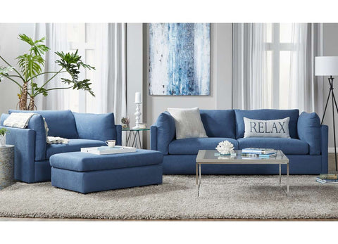 Hughes 18200 Sofa & Cuddle Chair: Image Navy