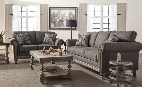 Hughes 3400 Sofa & Loveseat Element Obsidian