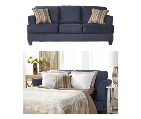 Hughes 5650 Queen Sleeper Sofa: Beamer Denim Vintage