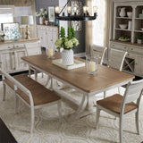 Liberty 652DR Farmhouse Reimagined 8 PCS Dining Group Wood