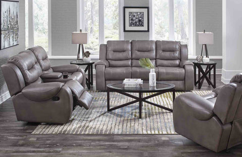 Corinthian 71407 Reclining Sofa & Loveseat Jamestown Smoke