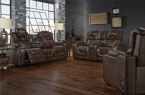 Corinthian 73901HR Power Reclining Sofa & Loveseat Desert Chocolate