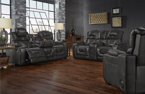 Corinthian 73904HR Power Reclining Sofa & Loveseat Desert Eclipse