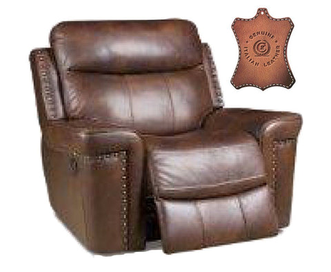Corinthian 90301-10 Rocker Recliner 100% Genuine Italian Leather Match Softie Driftwood