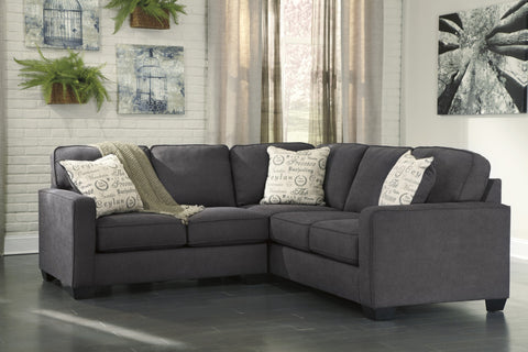 Ashley 16601 Alenya 2PC Sectional Charcoal