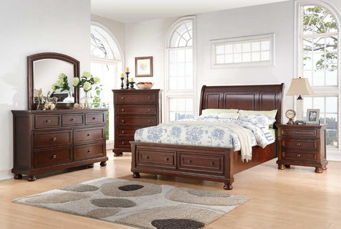 Avalon B0961N Sophia Storage Bed,Chest, Dresser, Mirror, (1)Nightstand