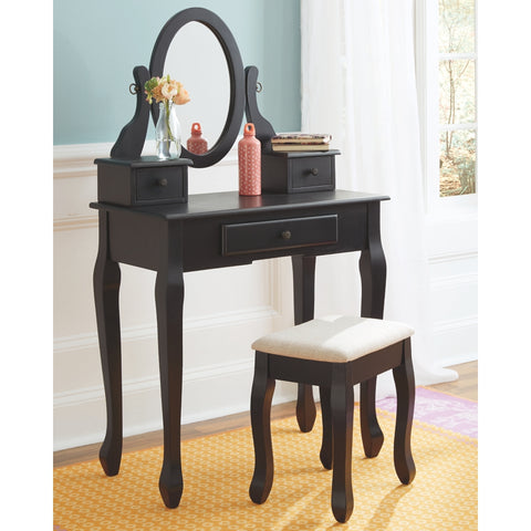 Ashley B128-122 Huey Vineyard Vanity/Mirror/Stool 3PCS