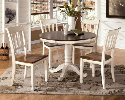 Ashley D583 Round Table w/ (4) chairs Dining Height Whitesburg