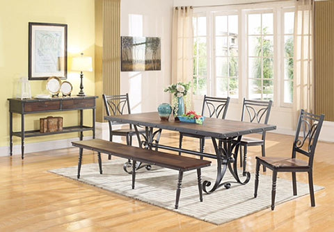 Lifestyle DC1669 Dining Height w/ (4)chairs & (1) Bench