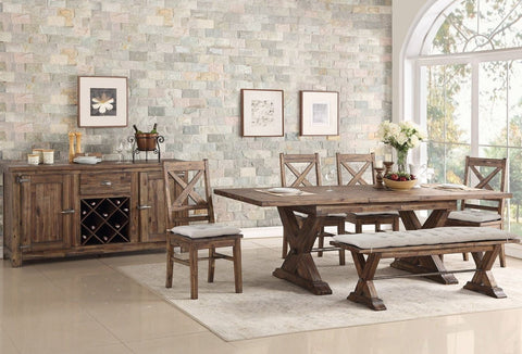 Avalon D00526 Fresno Butterfly leaf table w/ (1) Bench, & (4) chairs
