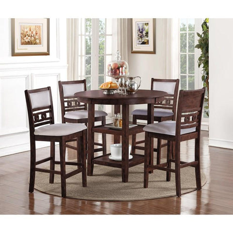 New Classic D1701-52S-CHY Gia 5pc Counter Dining Set