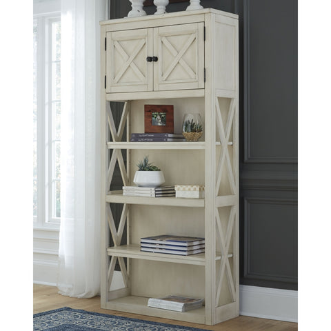 Ashley H647-17 Bolanburg White Large Bookcase