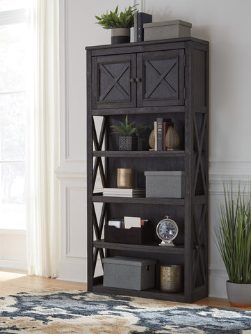 Ashley H736-17 Tyler Creek Black Large Bookcase
