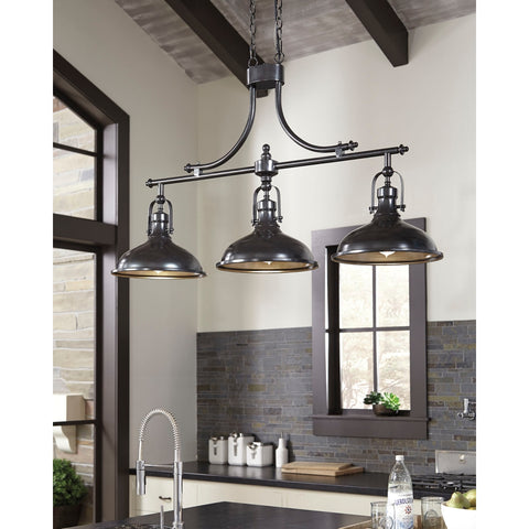 Ashley L000508 Joella Metal Pendant Light Bronze Finish