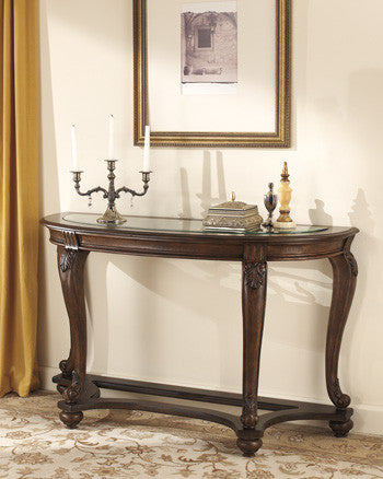 Ashley T499-4 Norcastle Sofa Table Dark Brown