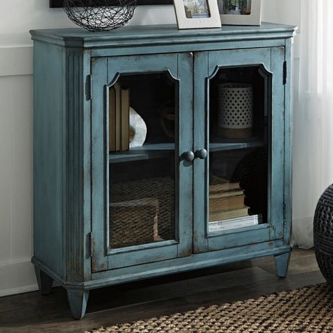 Ashley T505-742 Accent Cabinet  Antique Teal
