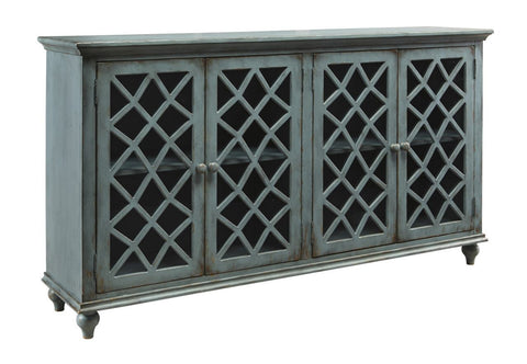 Ashley T505-762 Mirimyn Door Accent Cabinet Antique Teal