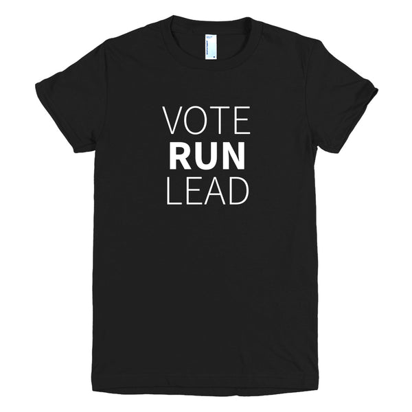 VoteRunLead Short Sleeve Women's Fitted T-shirt