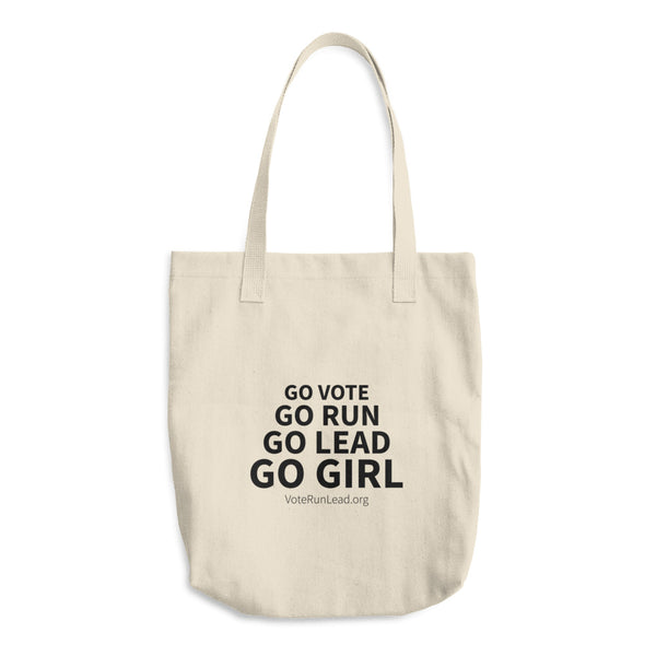 Go Girl Cotton Tote Bag