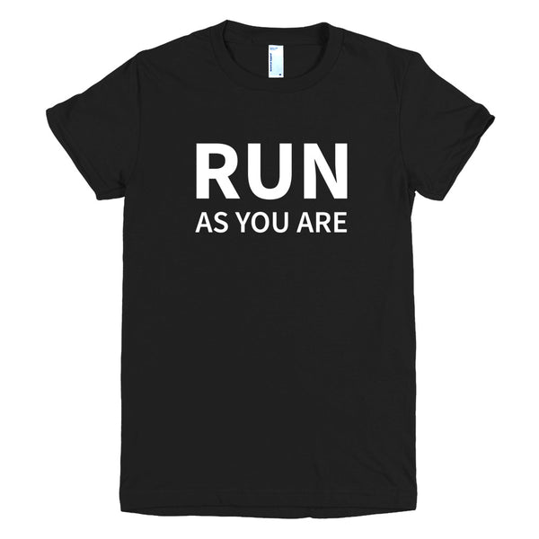 #RunAsYouAre Short Sleeve Women's Fitted T-shirt