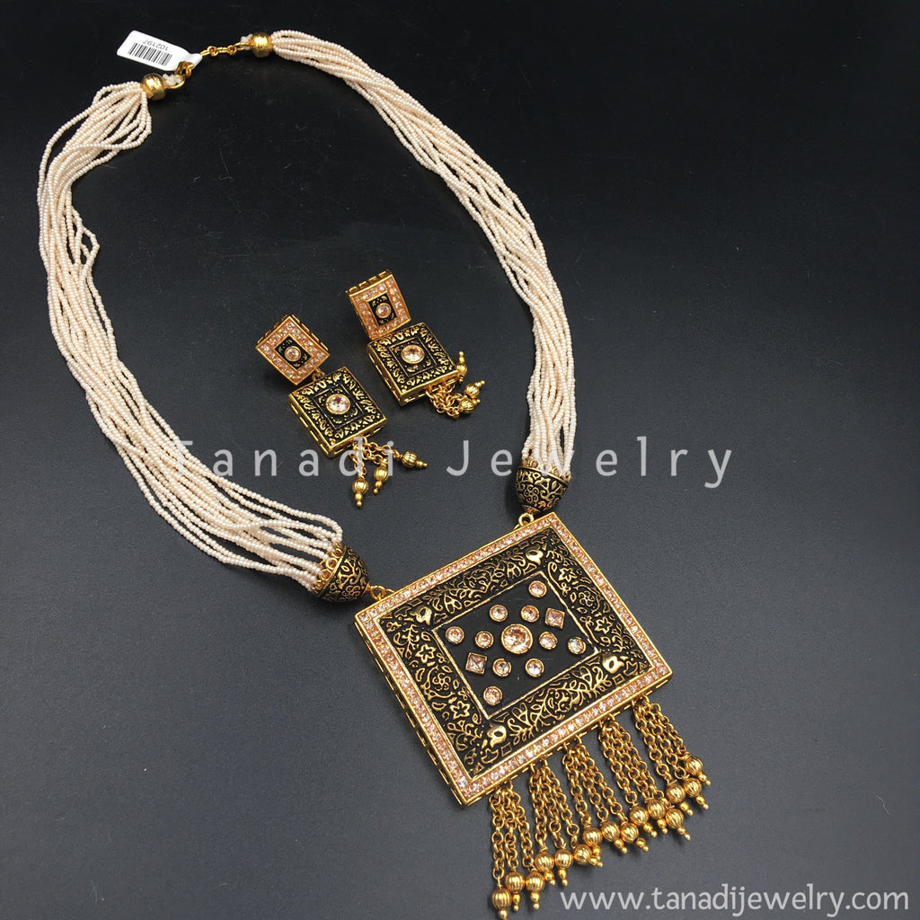 rope rectangle muerte pendant chain gold w solid yellow santa frame cut necklace diamond