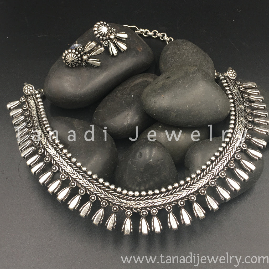 Oxidised Necklace  - D3
