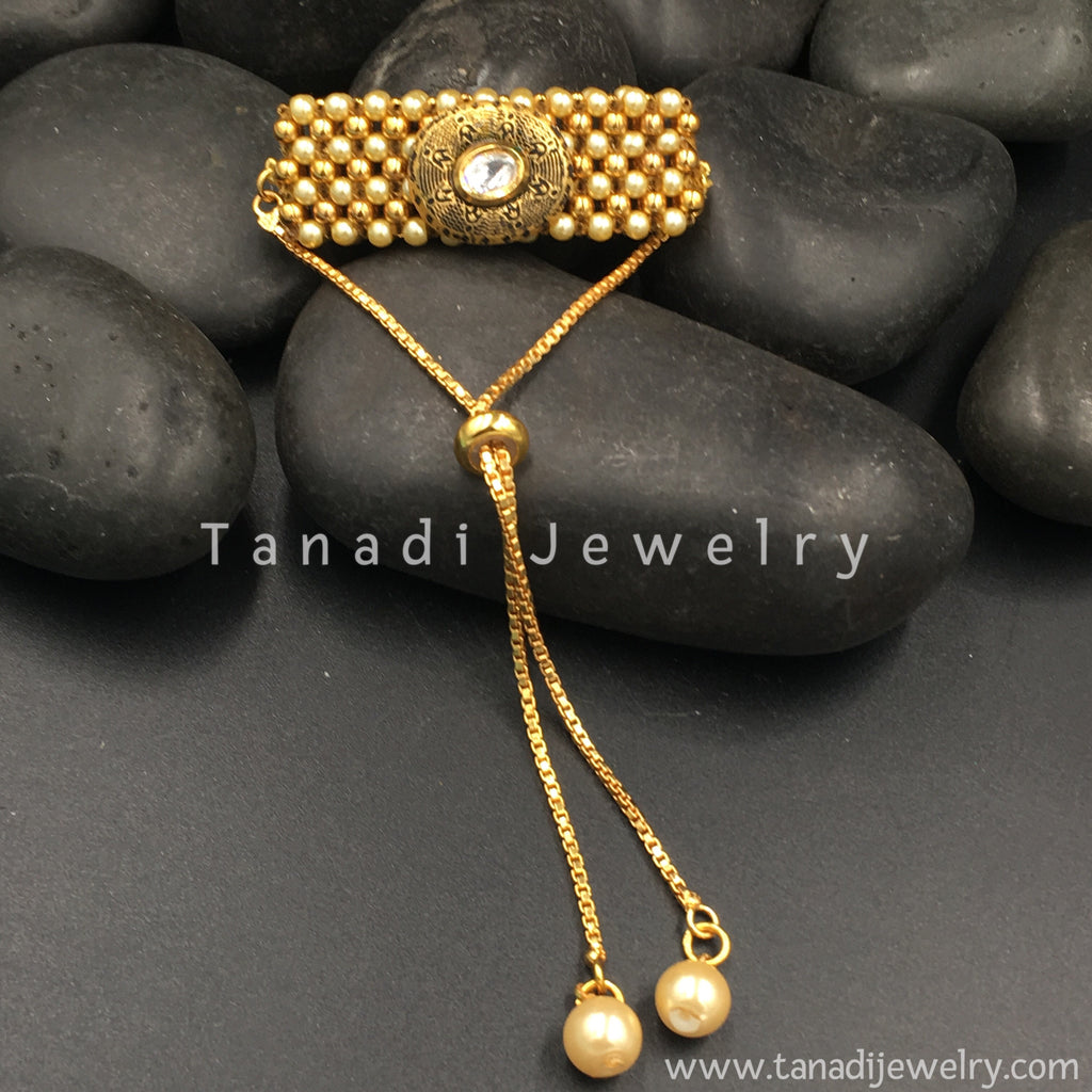 Asian black and gold stone #8