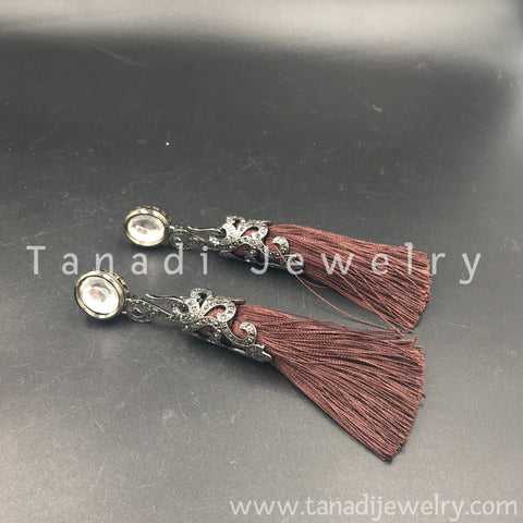 Tassel Earring - Brown