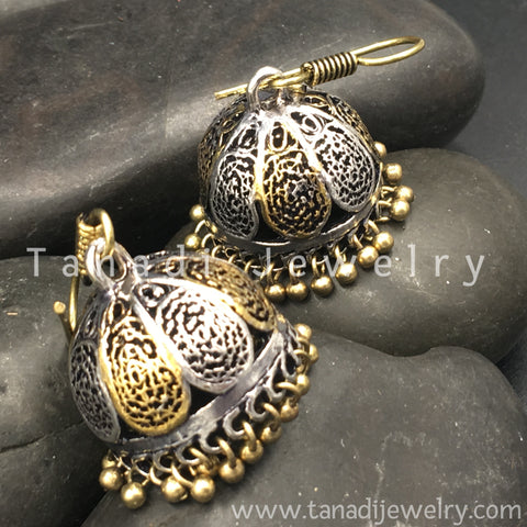 Dual Tone Earrings - 3