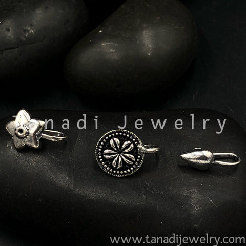 Oxidised Nose Pin Set - 2